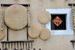House Wall And Living Stuff In Chinese Countryside Royalty Free Stock Photo - Image: 19890555