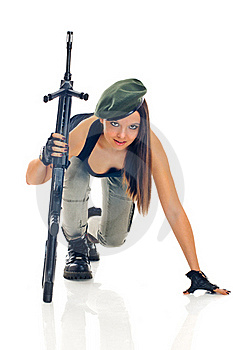 Gilrl Soldier Royalty Free Stock Photos - Image: 19891548