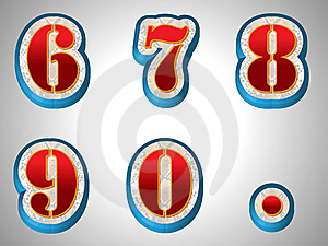 Set Number Style Stock Images - Image: 19892074