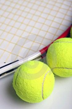 Tennis equipment Stock Photography