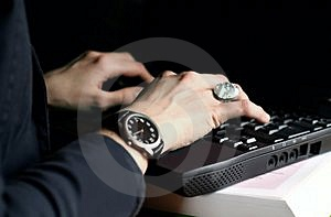 Hands On Laptop Royalty Free Stock Images - Image: 1993969