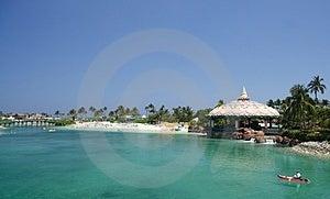 Tropical Beachclub Royalty Free Stock Photos - Image: 1995338