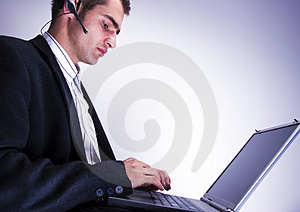 Businessman Working On Laptop Stock Images - Image: 1998374