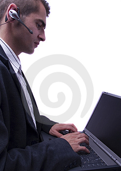 Businessman Working On Laptop Royalty Free Stock Photography - Image: 1998387