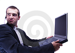 Businessman Working On Laptop Royalty Free Stock Images - Image: 1998419