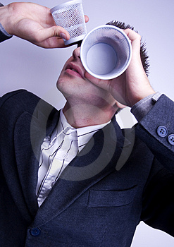 Crazy Businessman Royalty Free Stock Photography - Image: 1998587