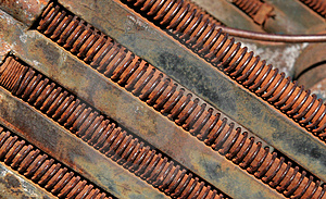 Rusting Threaded Bolts Royalty Free Stock Image - Image: 1998836