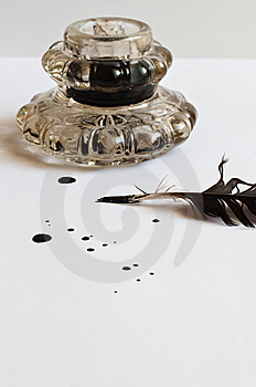 Feather And Inkwell Royalty Free Stock Photo - Image: 19900385