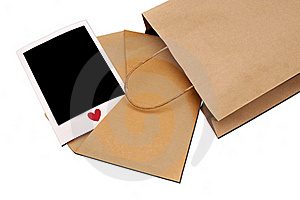 Envelope With Instant Photo Royalty Free Stock Images - Image: 19908039