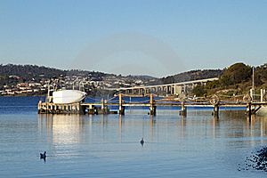 Boats And Pier Royalty Free Stock Photography - Image: 19910067