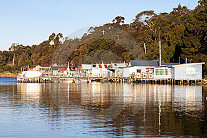 Boat Houses Royalty Free Stock Images - Image: 19910069
