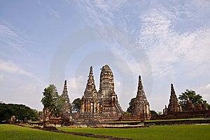 Wat Chai Wattanaram, Ayutthaya, Thailand. Royalty Free Stock Images - Image: 19911089