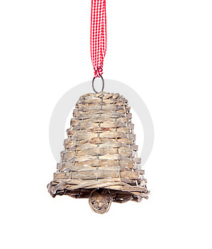 A  Hanging Wicker Jingle Bell Royalty Free Stock Photo - Image: 19912515