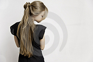 Rear View Of Blonde Female Royalty Free Stock Photo - Image: 19918895