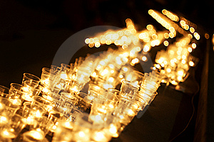Candles At Night Royalty Free Stock Photos - Image: 19920398