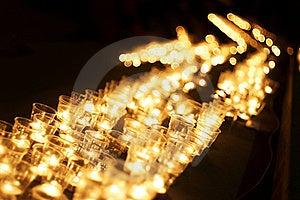 Candles At Night Royalty Free Stock Photos - Image: 19920398