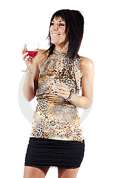 Attractive Woman Drinking Wine Royalty Free Stock Photography - Image: 19920437