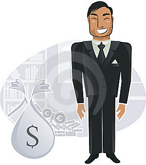 Rich Worker In The Office (vector) Stock Photo - Image: 19922110
