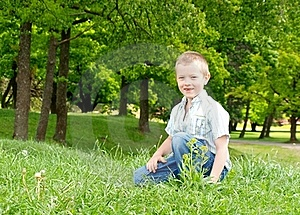 Happy Boy Outdoor Royalty Free Stock Images - Image: 19923569