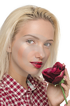 Woman With Rose Stock Photography - Image: 19925192