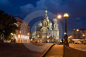 Cathedral Of Spasa On Blood Royalty Free Stock Photos - Image: 19925238