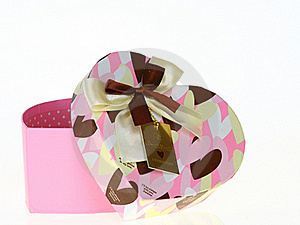 Gift Heart Pink Box Royalty Free Stock Images - Image: 19925289