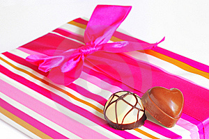 Chocolate Candies And Gift Box Stock Photo - Image: 19926270