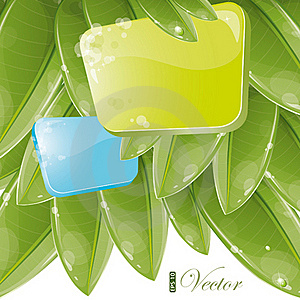Blue And Green Form With Foliage Stock Photo - Image: 19928570