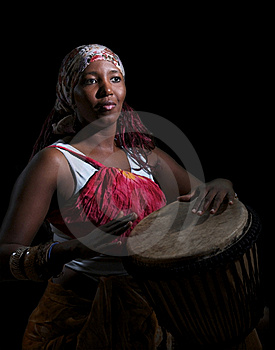 Drummer On Black Royalty Free Stock Photography - Image: 19931797