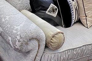 Sukienna Rękojeści Poduszki Kanapa Obrazy Stock - Obraz: 19933414