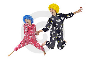 Clowns Flying Stock Photos - Image: 19933473