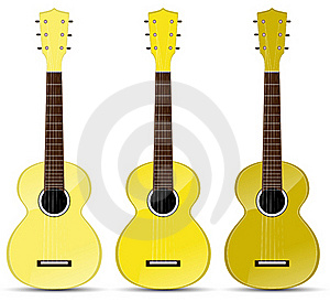 Yellow Classical Acoustic Guitar Stock Photography - Image: 19933632