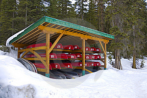 Stored Canoes Stock Images - Image: 19934394