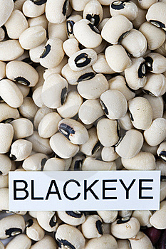 Dried Black Eyed Beans With Label Close-up Royalty Free Stock Photos - Image: 19934608
