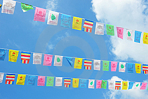 Rows Of Celebration Flags Royalty Free Stock Photos - Image: 19937058