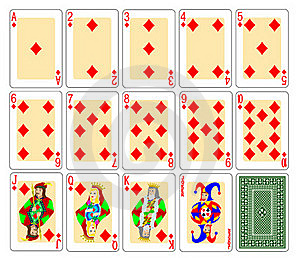 Playing Cards - Diamonds Royalty Free Stock Photography - Image: 19951087