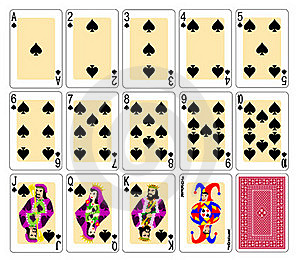 Playing Cards - Spades Stock Image - Image: 19951091
