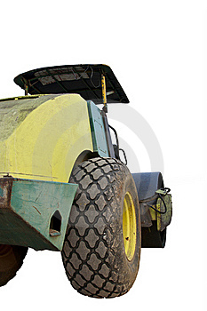 Heavy Vibration Roller On Thr Ground Stock Photography - Image: 19951352