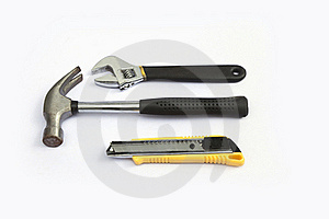 Wrench, Hammer, Cutter. Stock Photos - Image: 19952103