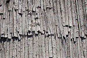 Old Wood Roof Stock Image - Image: 19952471