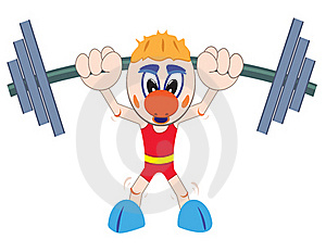 Weightlifter Lifting Barbell Stock Photo - Image: 19955650