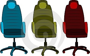 The Office Chair From Imitation Leather Royalty Free Stock Photos - Image: 19959478