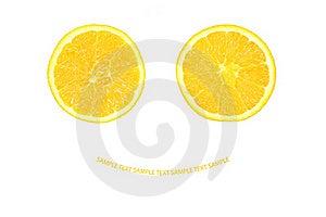 Two Half Of Orange Royalty Free Stock Images - Image: 19962599