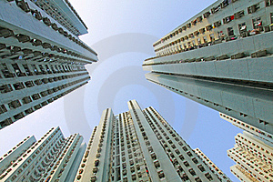 Packed Hong Kong Public Housing Royalty Free Stock Photo - Image: 19964775