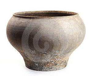 Old Empty Pot. Obsolete,   Antiquated  Equipment Royalty Free Stock Images - Image: 19965929