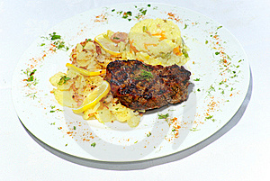 Grilled Steak Meat Royalty Free Stock Image - Image: 19966716