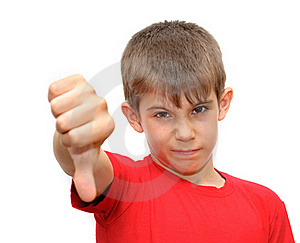 The Boy Shows Emotion Gestures Royalty Free Stock Photos - Image: 19967068