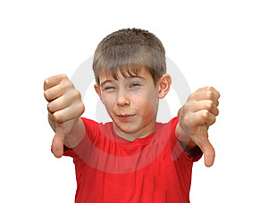 The Boy Shows Emotion Gestures Stock Images - Image: 19967134