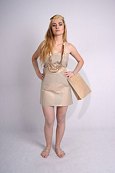 Confident Woman Wearing Eco Clothes Royalty Free Stock Image - Image: 19968956