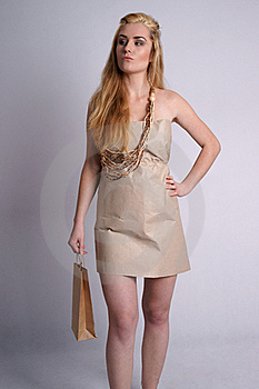 Confident Woman Wearing Eco Style Clothes Stock Image - Image: 19968961